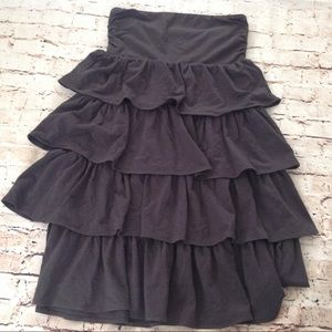 J.Crew Factory strapless ruffled dress